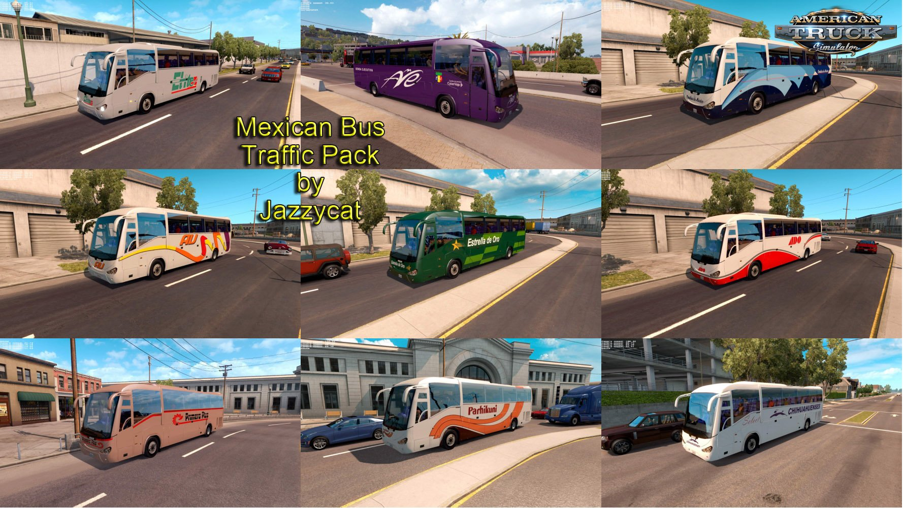 Mexican Bus Traffic Pack v1.0 by Jazzycat