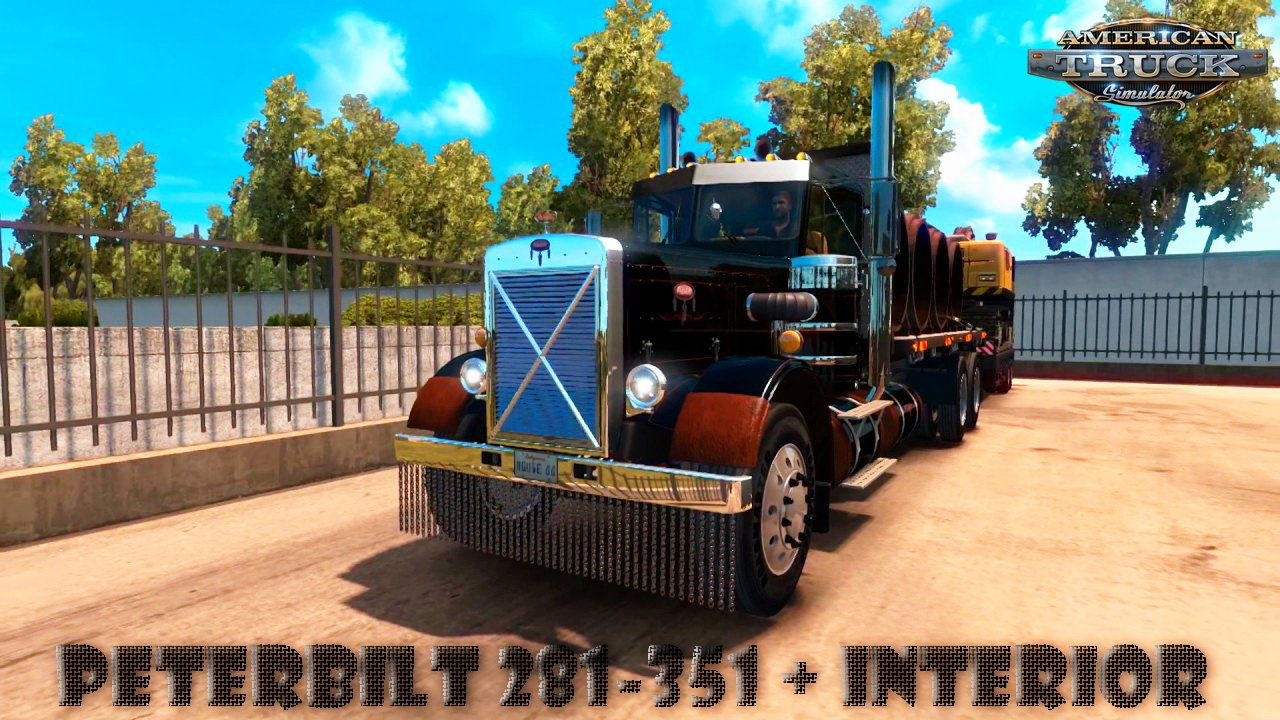 Peterbilt 281-351 + Interior + Trailers v2.0 (v1.36.x)