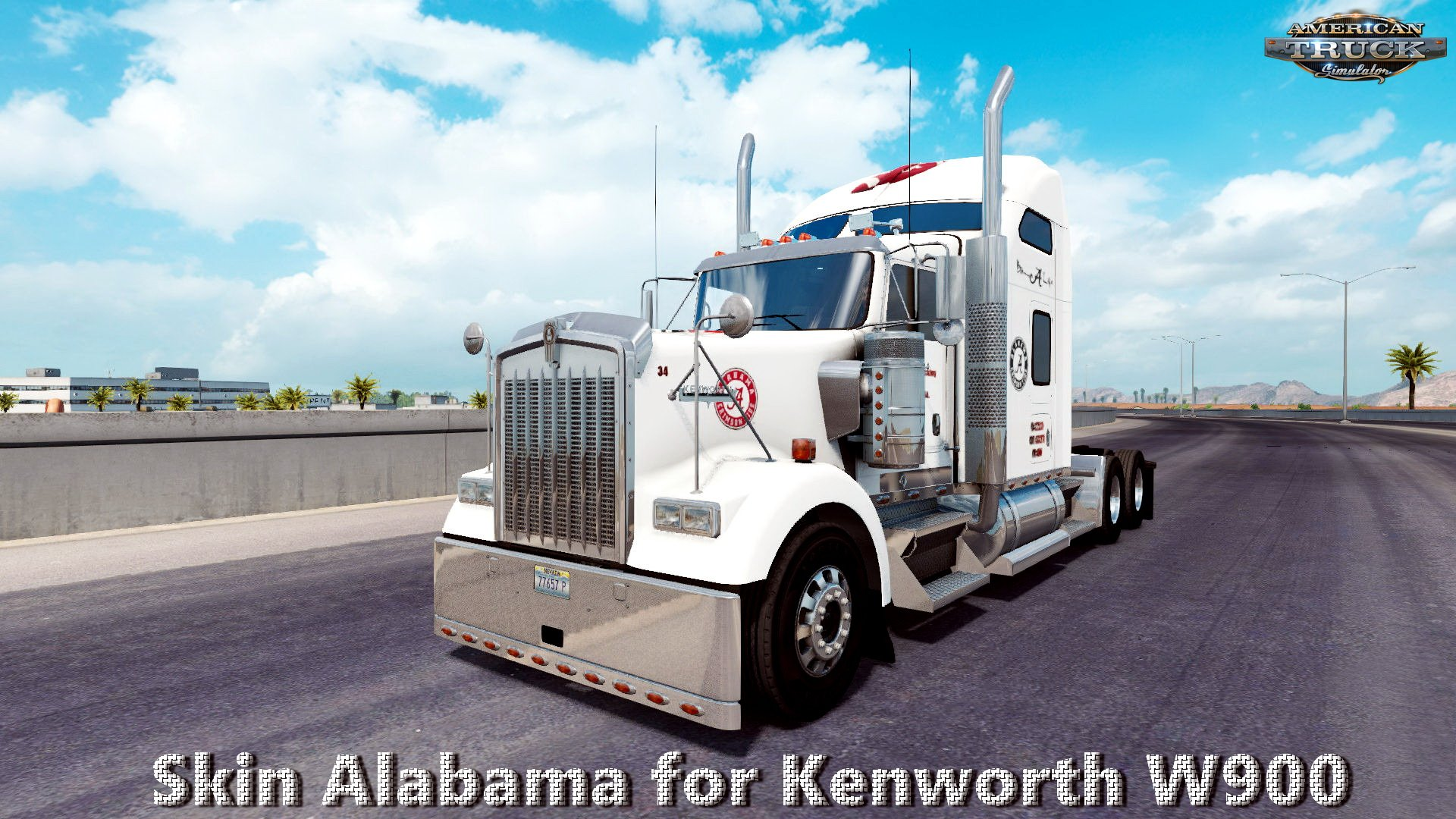 Skin Alabama for Kenworth W900 v1.0 (v1.6.x)
