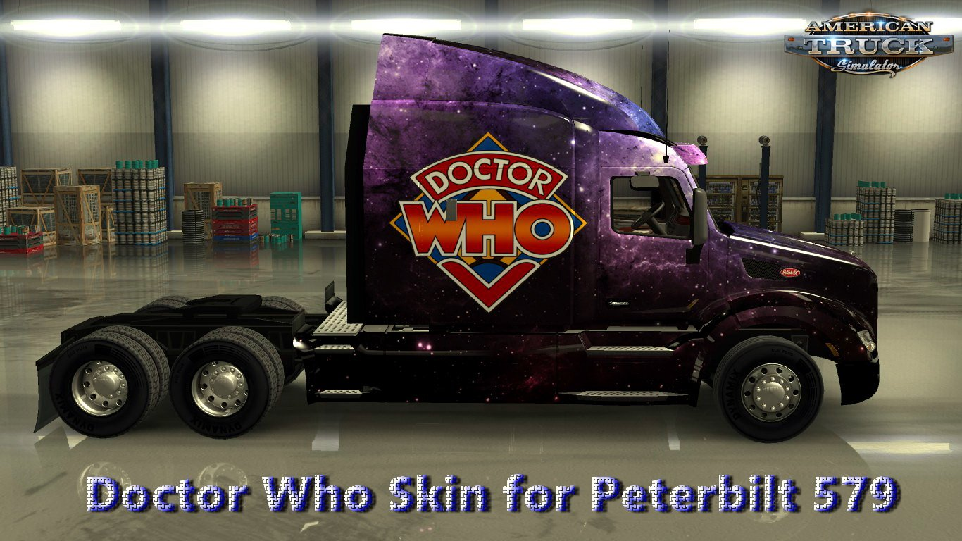Doctor Who Skin for Peterbilt 579 v1.0 (1.28.x)