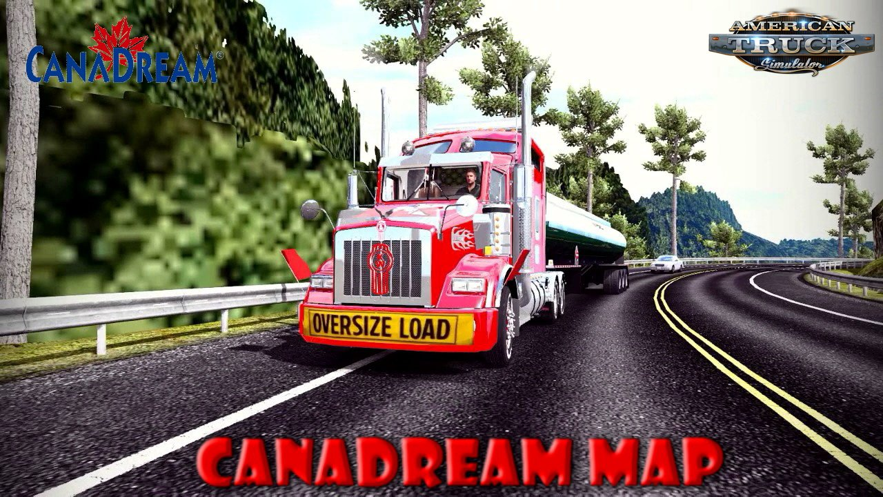 CanaDream Map v2.8 by ManiaX (1.33.x) for ATS