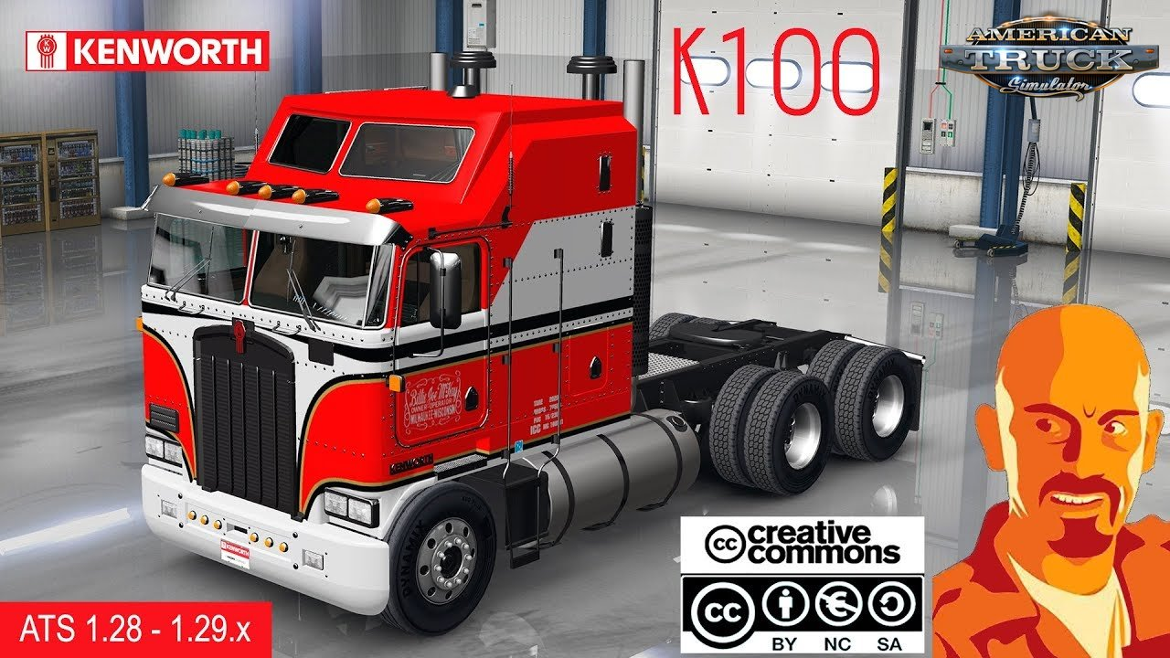 Kenworth K100 + Interior v1.0 by CyrusTheVirus (v1.29.x)