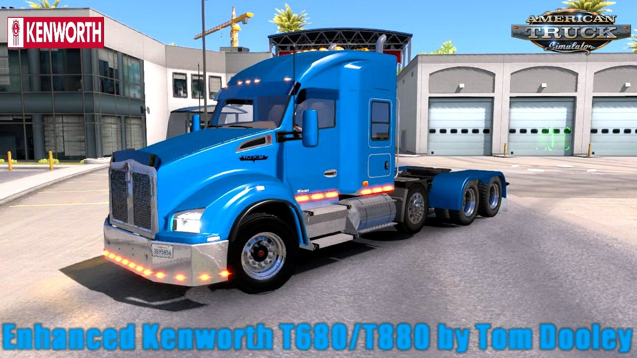Enhanced Kenworth T680/T880 v1.0 by Tom Dooley (Updated) (1.29.x)
