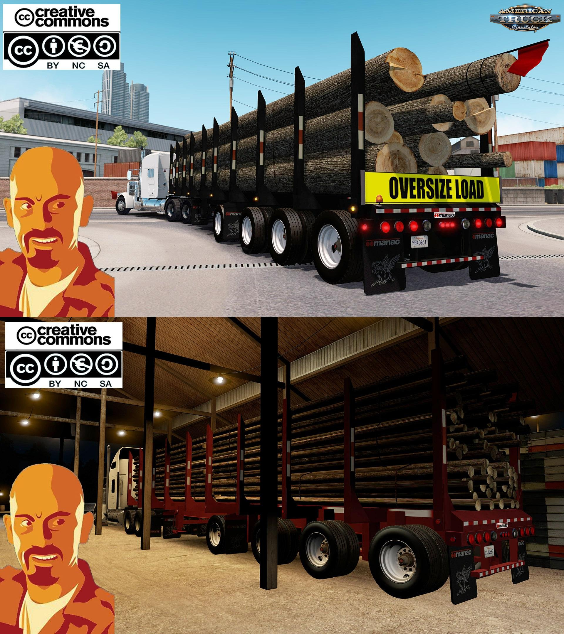 Manac 4 Axis Log Trailer for Ats [1.28.x-1.29.x]