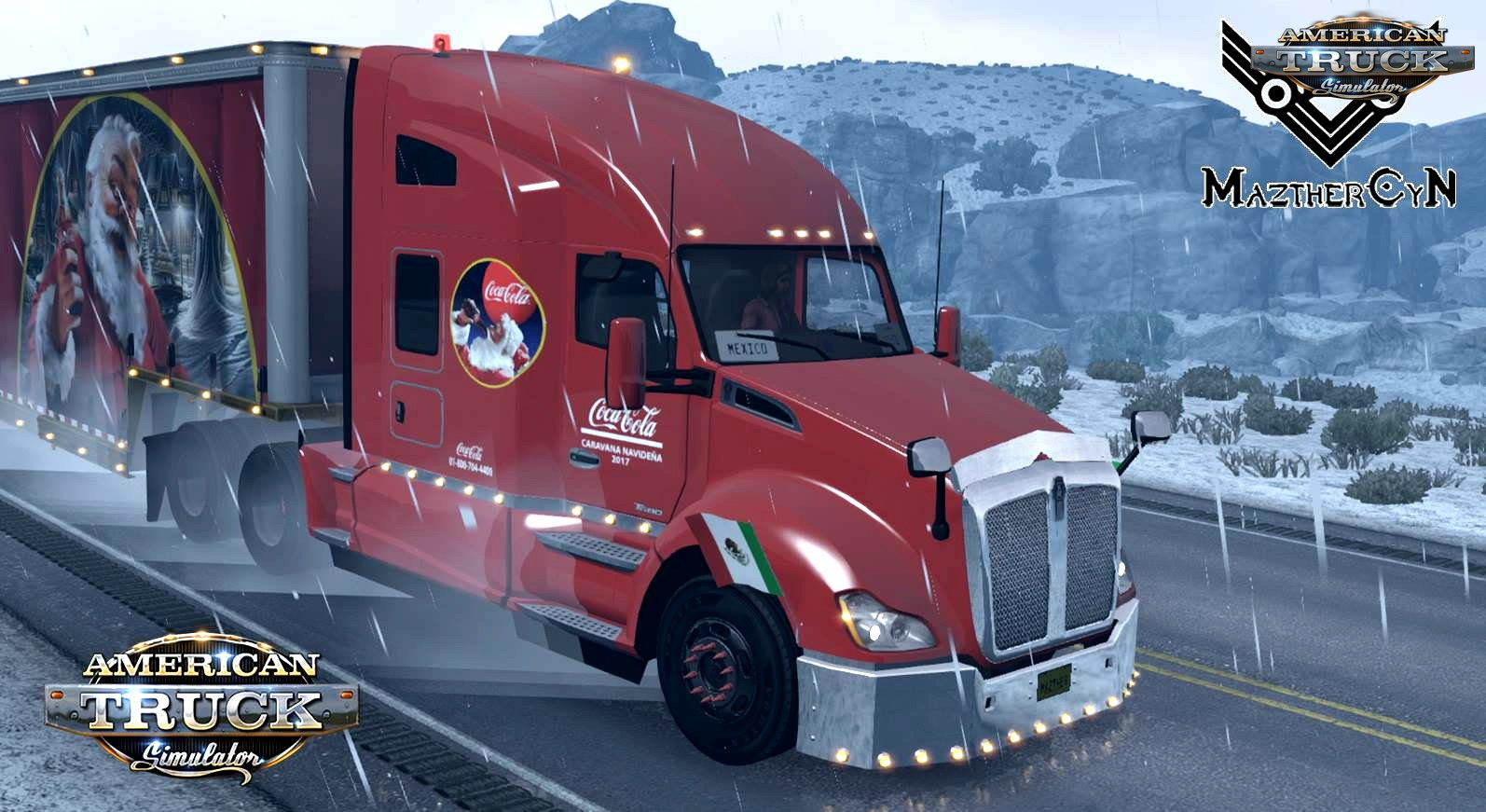 Caravana Coca Cola Combo Skin for Knenworth T680 + Trailer v1.0 (1.29.x)