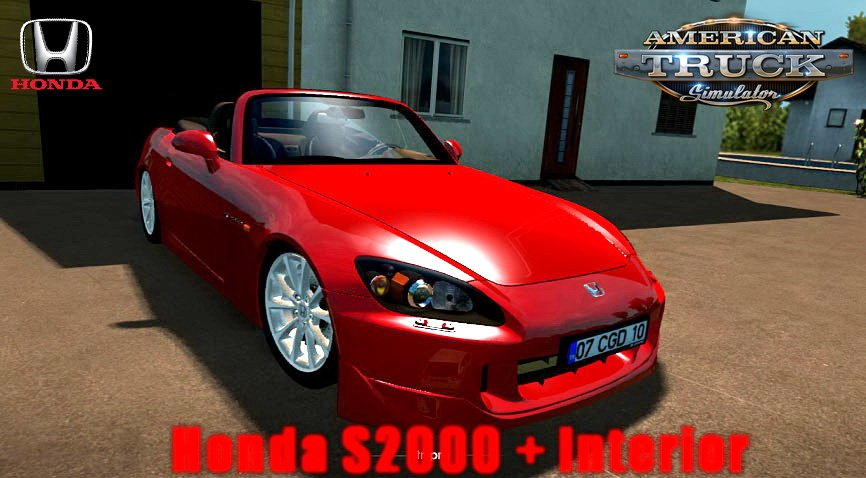 Honda S2000 + Interior v1.2 (1.35.x) for ATS