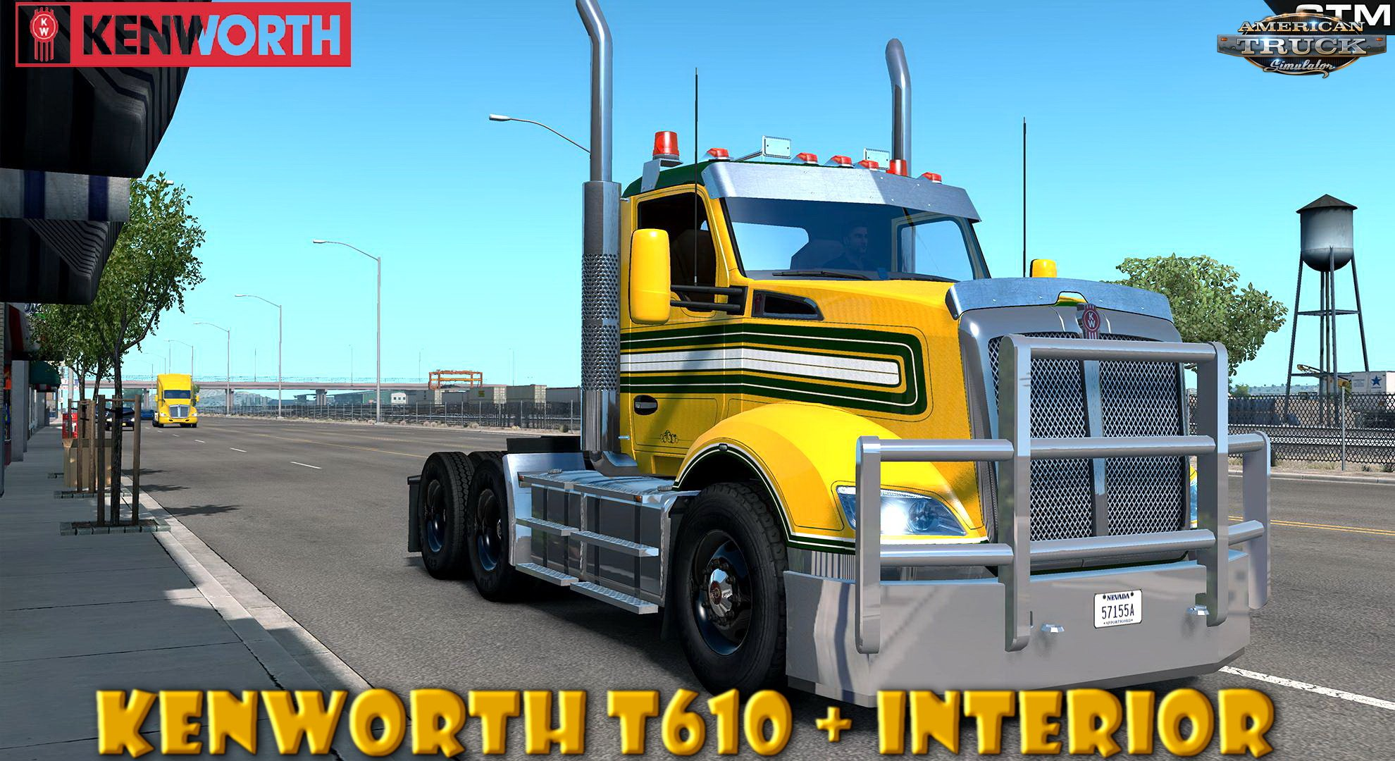 Kenworth T610 + Interior v1.0 by GTM Team (1.37.x)