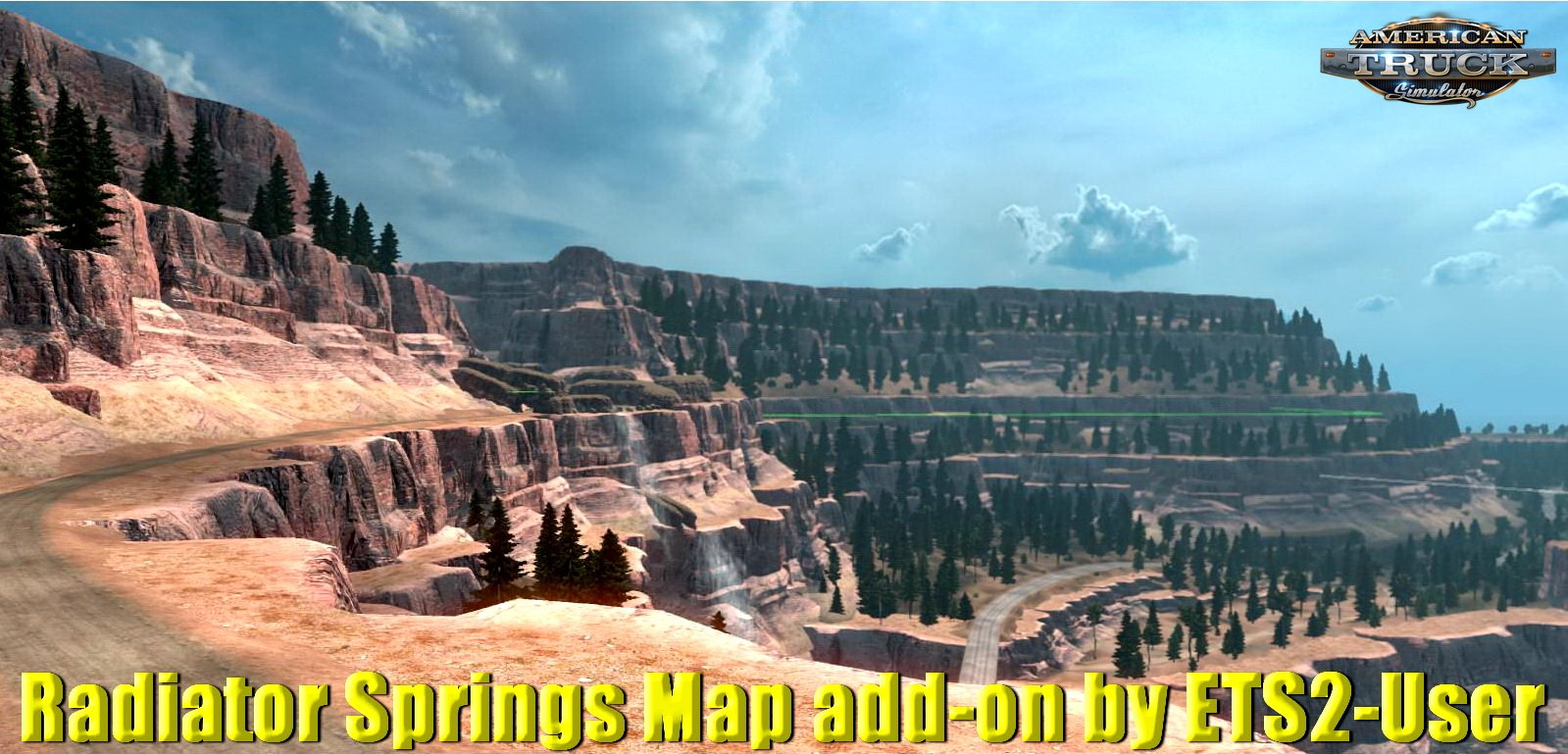 Radiator Springs Map add-on v1.1 by ETS2-User (1.32.x)