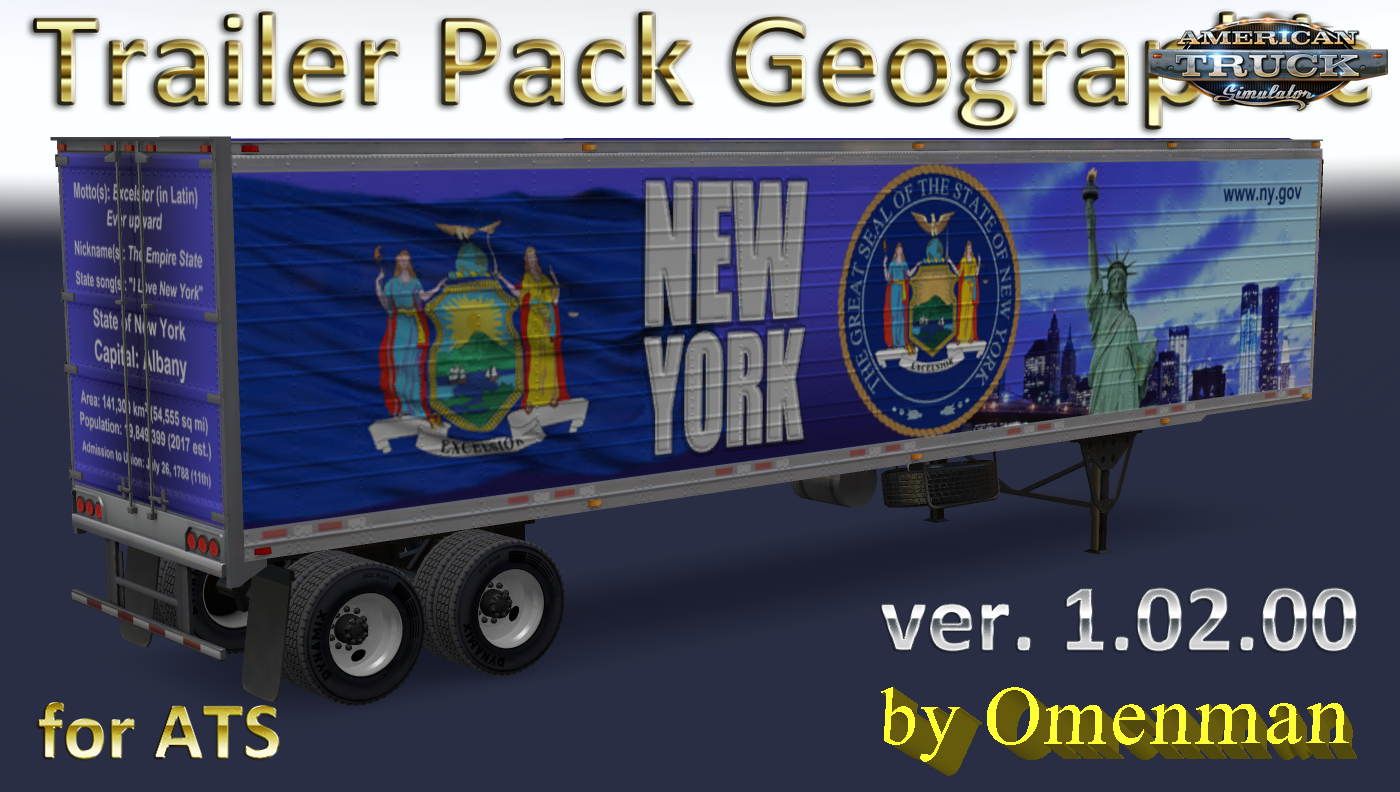 Trailer Pack Geographic v.1.02.00 for Ats