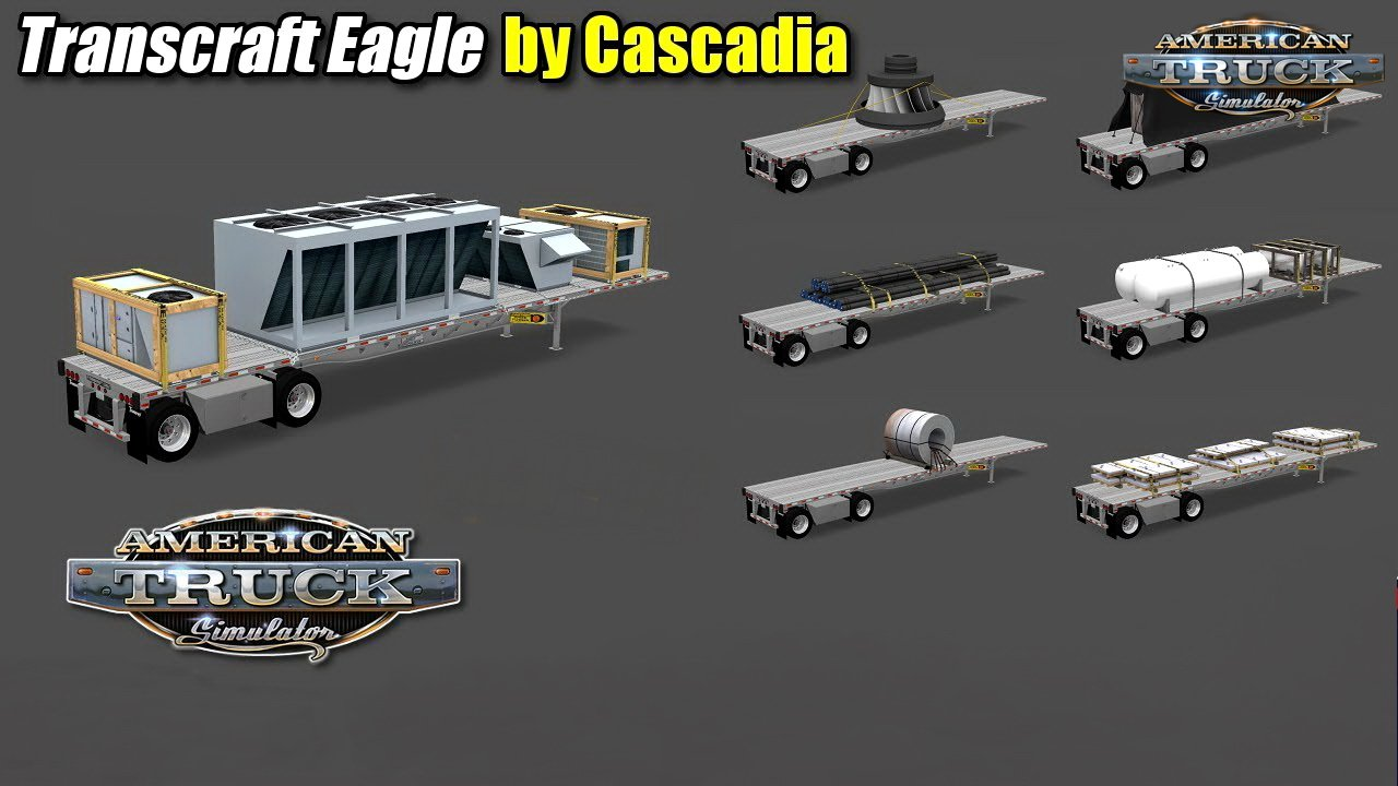 Trailer Flatbed Transcraft Eagle v1.0 by Cascadia (1.31.x)