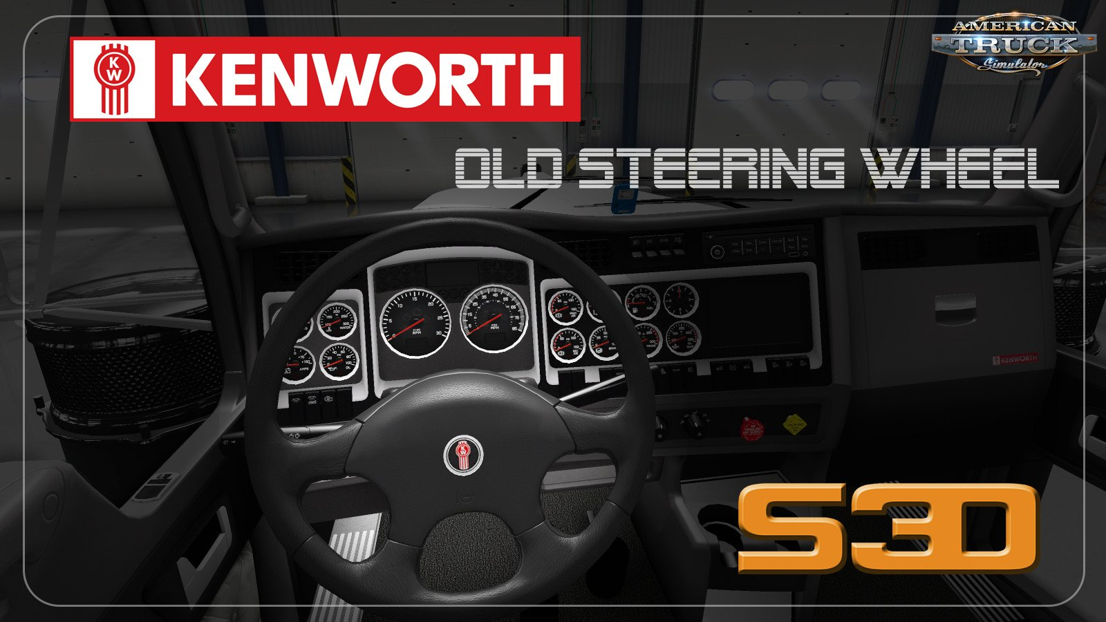 Old Kenworth Steering Wheel model for Ats