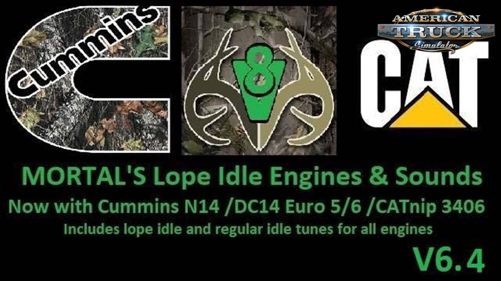 Mortal's Lope Idle Engines & Sounds v6.4 for Ats&Ets2