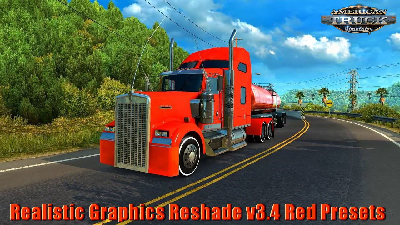 Realistic Graphics Reshade v3.4 Red Presets v1.5 by YanRed (1.31.x)