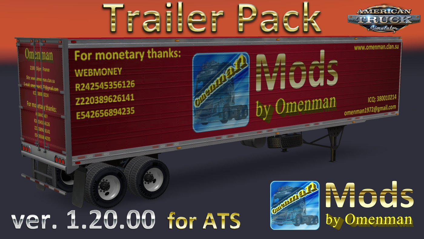 Trailer Pack by Omenman v.1.20.00 (Rus + Eng) for Ats