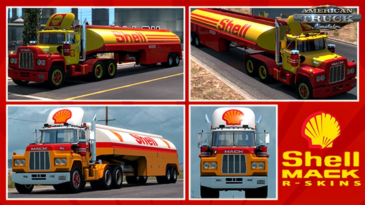 Shell Mack R Series Skins for Ats and Ets2