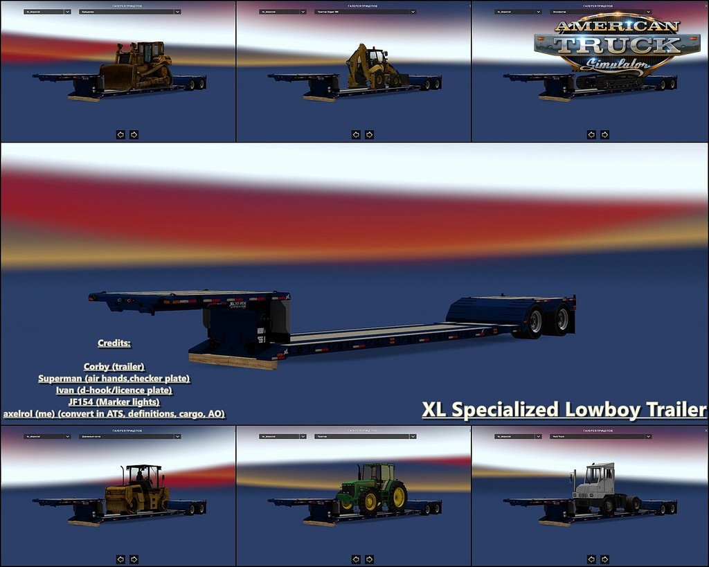 XL Specialized Lowboy Trailer for Ats [1.32.x]