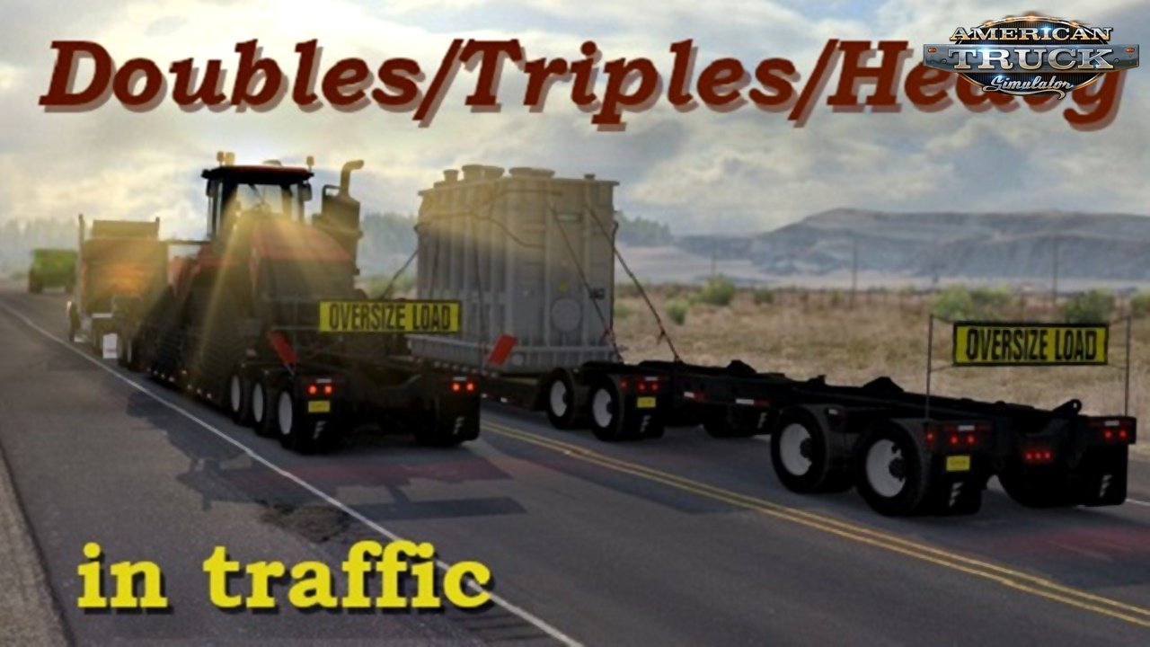 Doubles/Triples/Heavy Trailers in Traffic for Ats (1.32 beta)