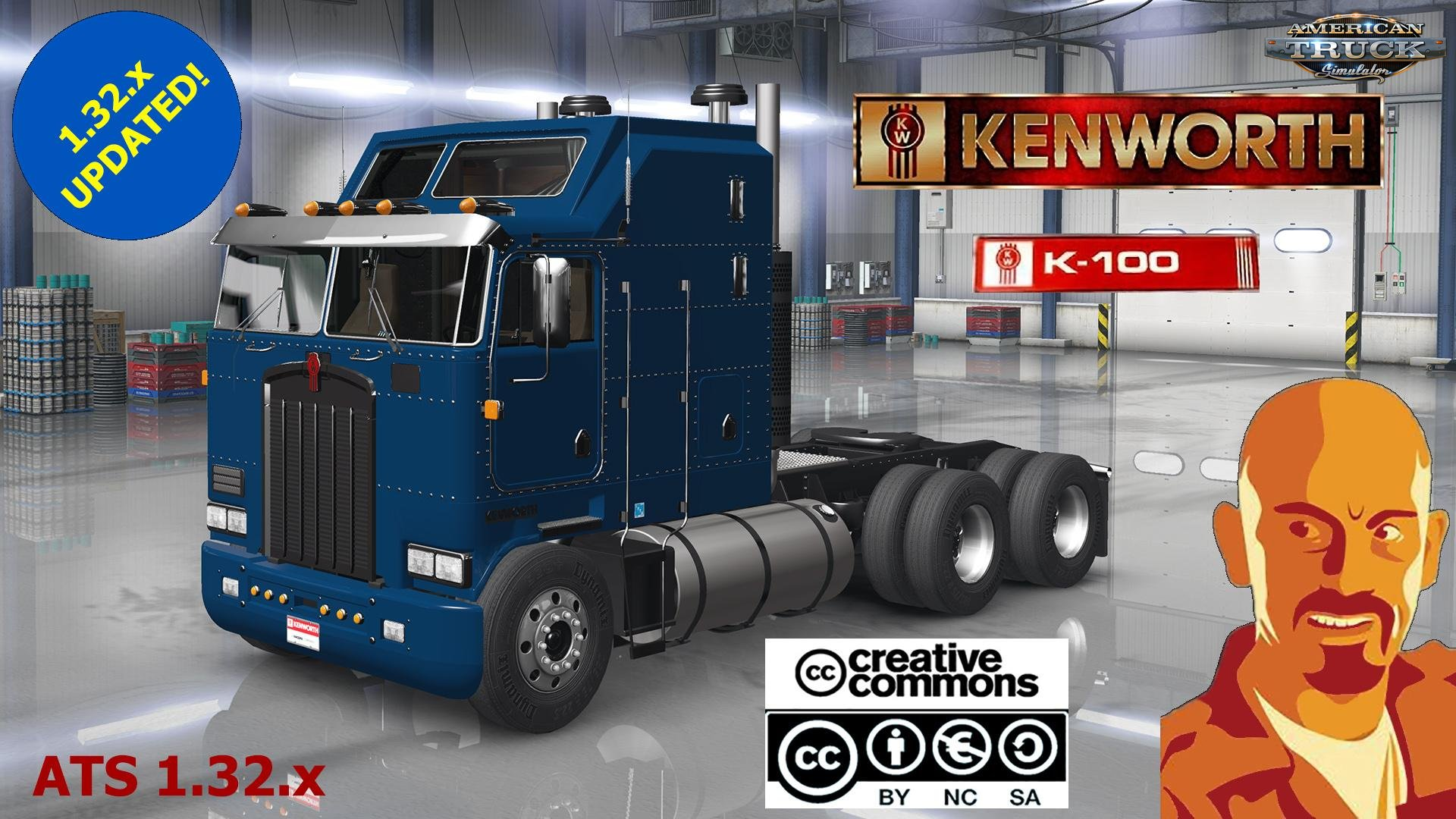 Kenworth K100 + Interior v1.0 by CyrusTheVirus (v1.32.x)