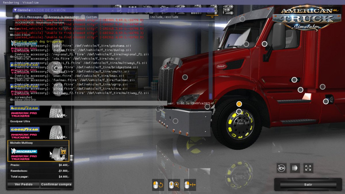 American Pro Truckers Wheel and Accessories Pack (update) for Ats