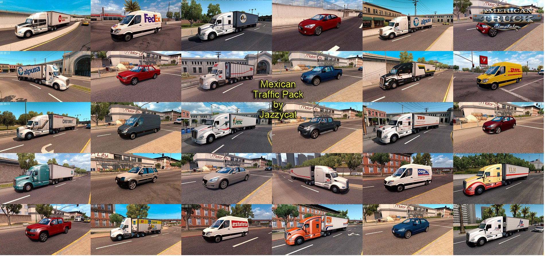 Mexican Traffic Pack v1.9.1 by Jayyzcat (1.35.x) for ATS