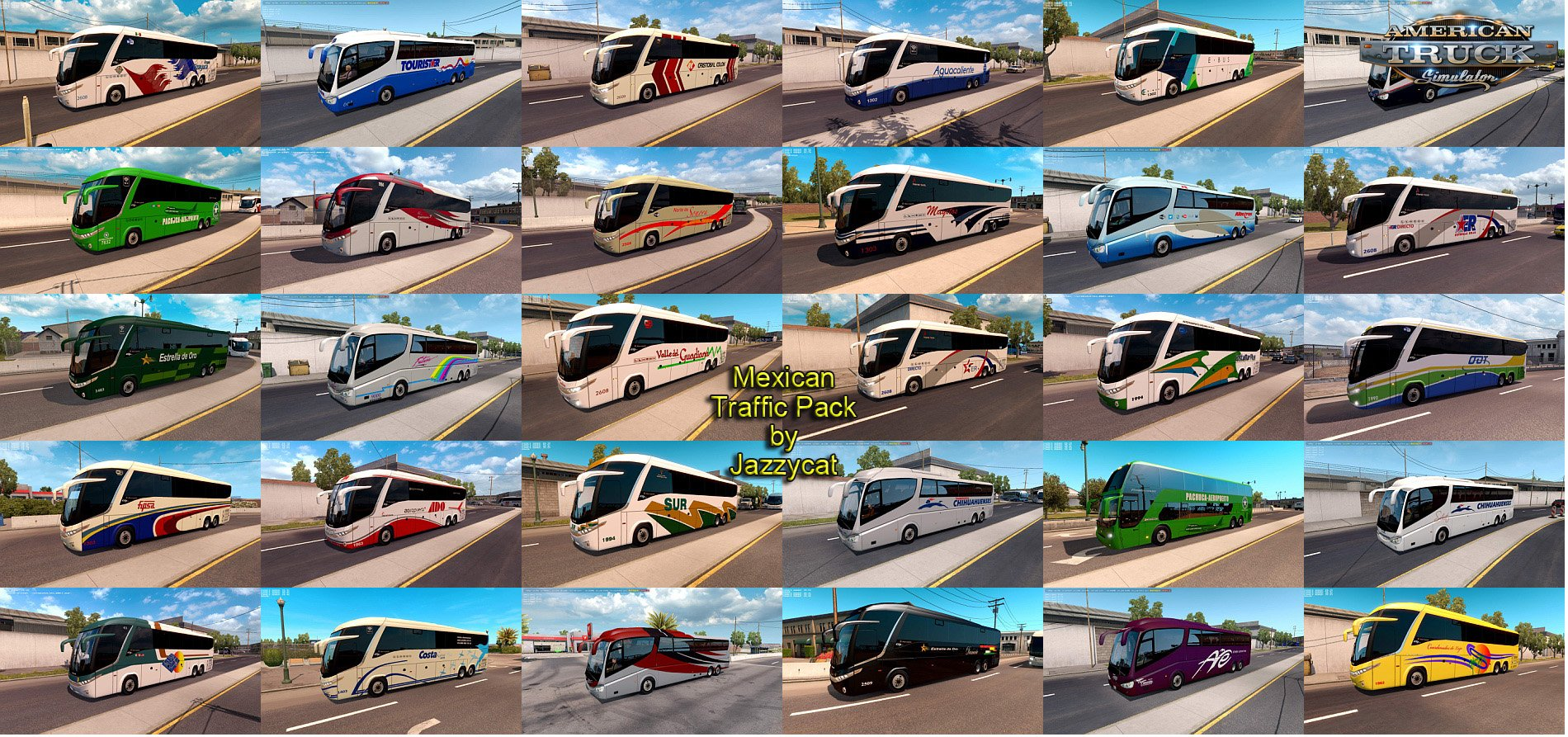Mexican Traffic Pack v2.0.2 by Jayyzcat (1.38.x) for ATS