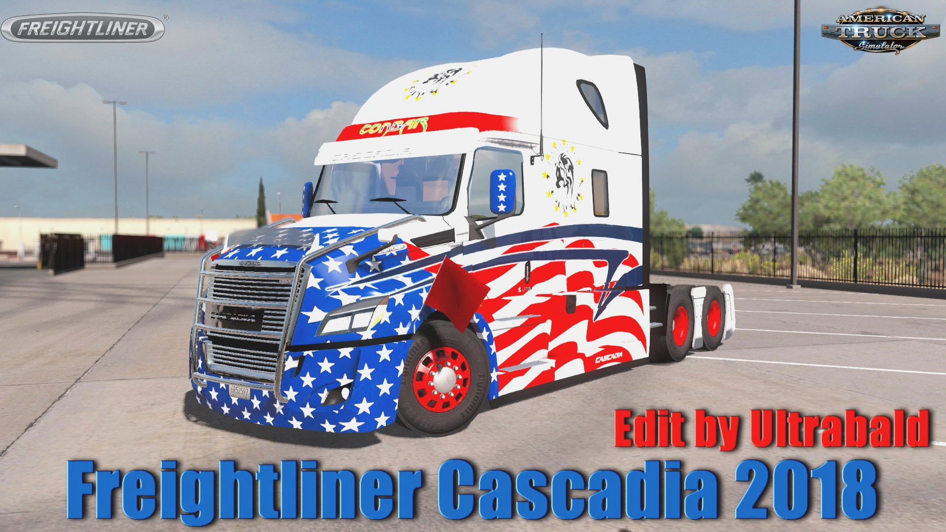 Freightliner Cascadia 2018 v1.6.1 Ultrabald Edition (1.35.x) for ATS