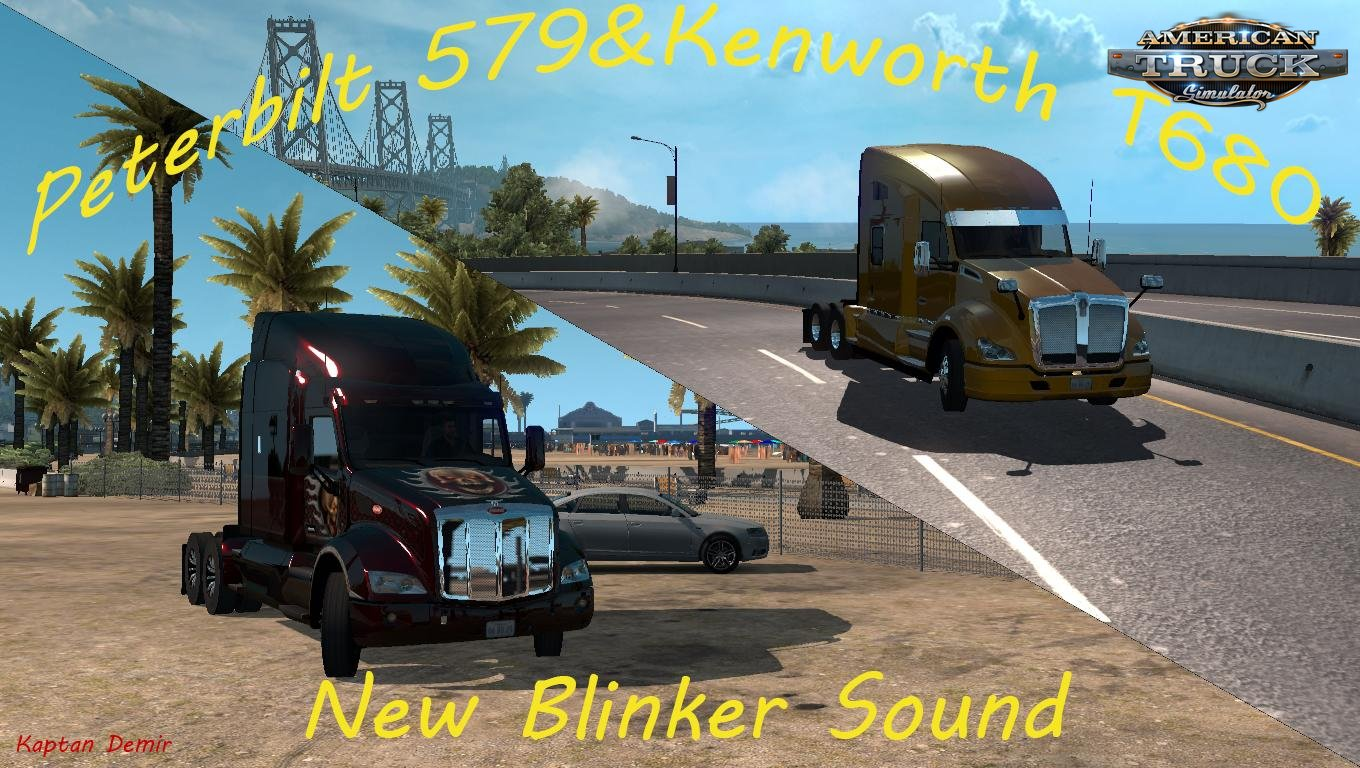 Peterbilt 579 & KW T610 new blinker sound v1.0 (1.33.x)