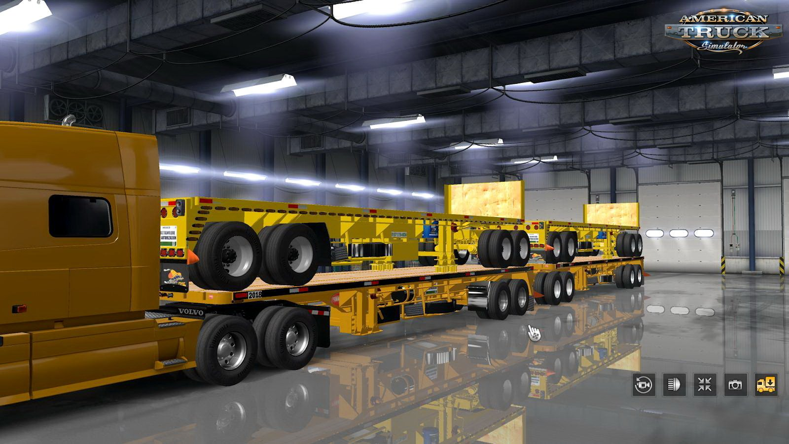 Trailer Flatbed Ferbus Owned with Mudflaps Animations v1.0 (1.33.x)