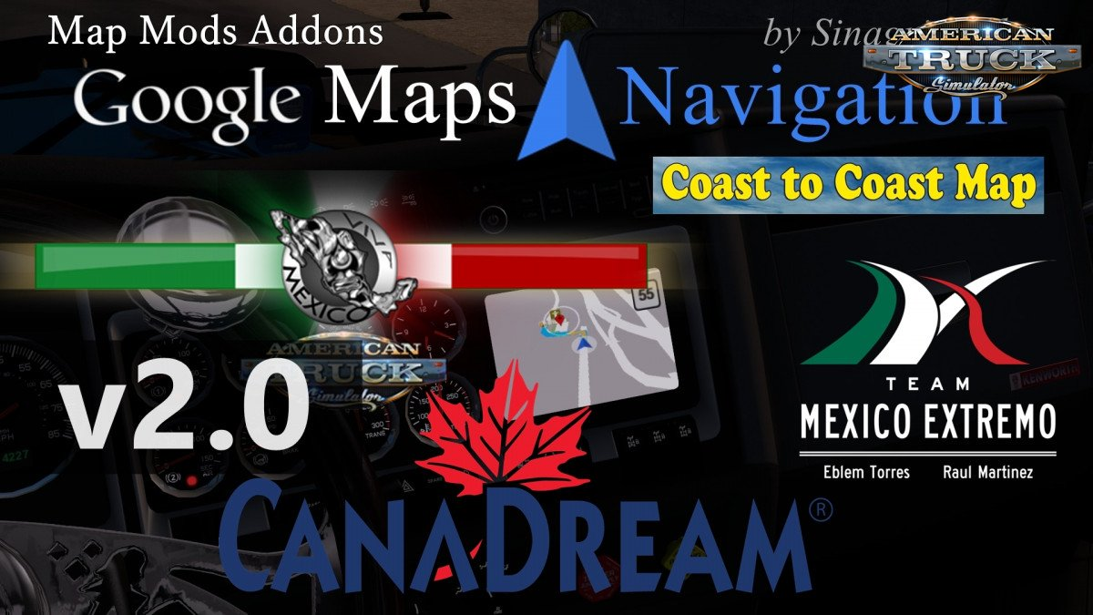 Google Maps Navigation Normal & Night Version Map Mods Addons v2.0 (1.33.x)