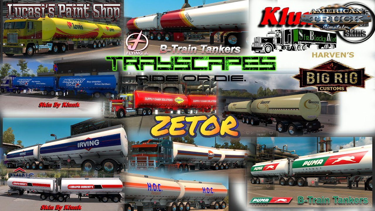 Advanced B-Train Tankers v1.0 (1.36.x) for ATS