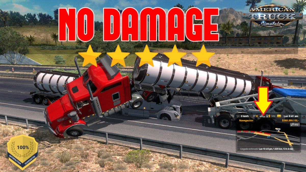No damage Mod for ATS by YanRed (1.33.x)