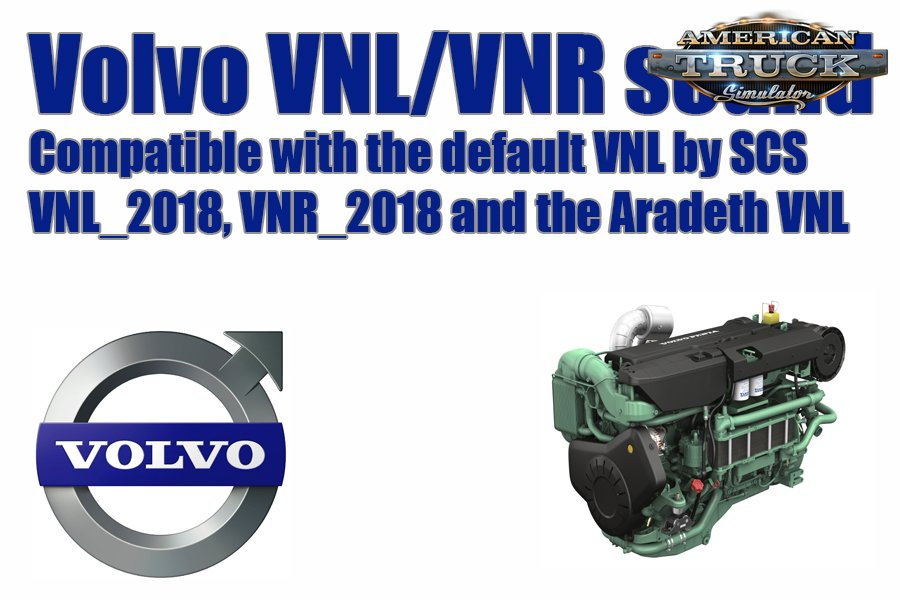 Volvo VNL/VNR Sound Mod v1.0 (1.33.x) for ATS