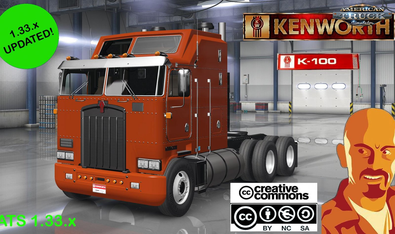 Kenworth K100 + Interior v1.0 by CyrusTheVirus (v1.33.x)