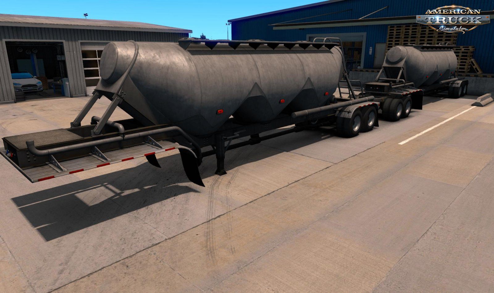Cement Double Long Hopper MP-SP Multiplayer TruckersMP v1.0 (1.34.x)
