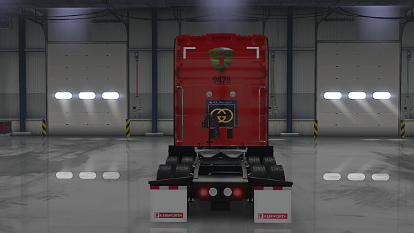 Tesla Motors Skin for Kenworth T680 v1.0 (1.35.x)