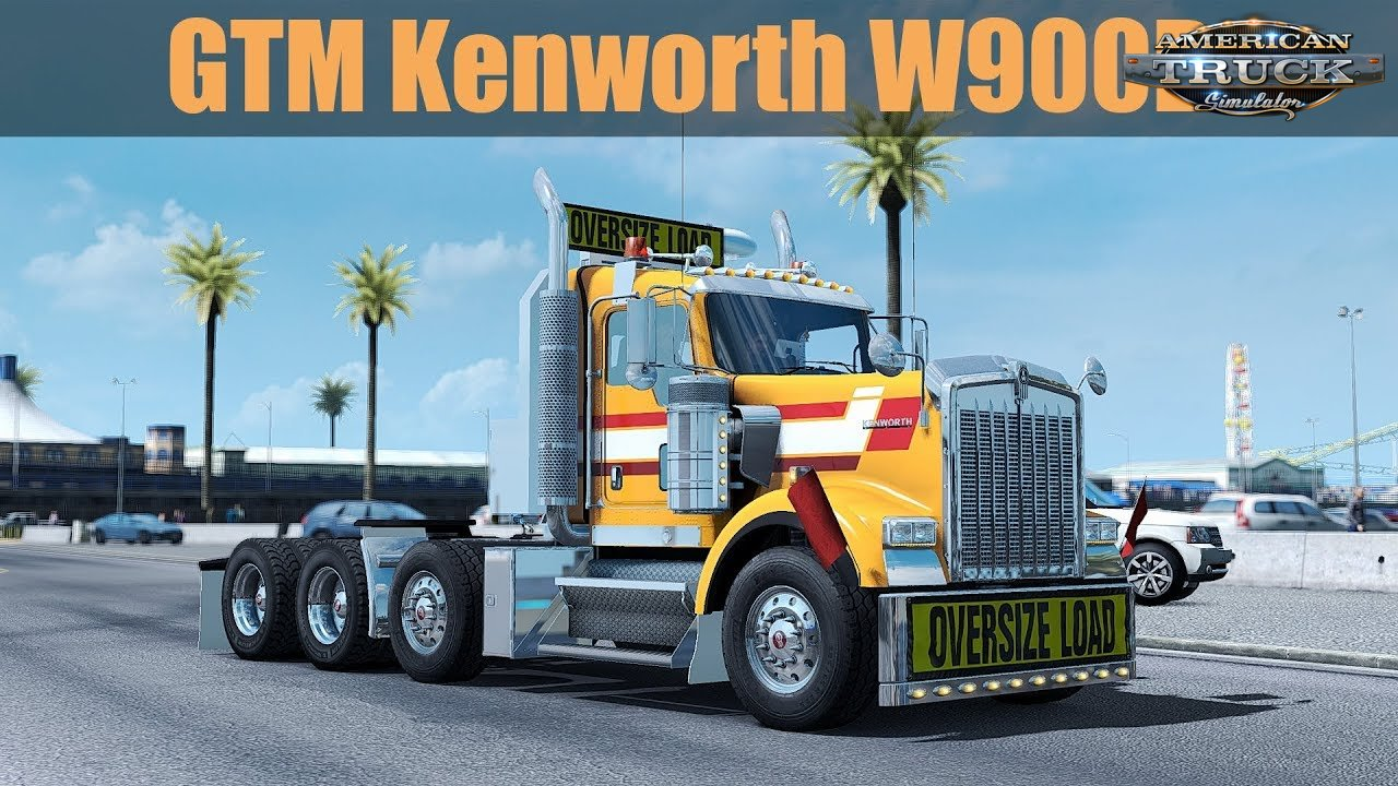 Kenworth W900B + Interior v1.2.2 by GTM Team (1.37.x)