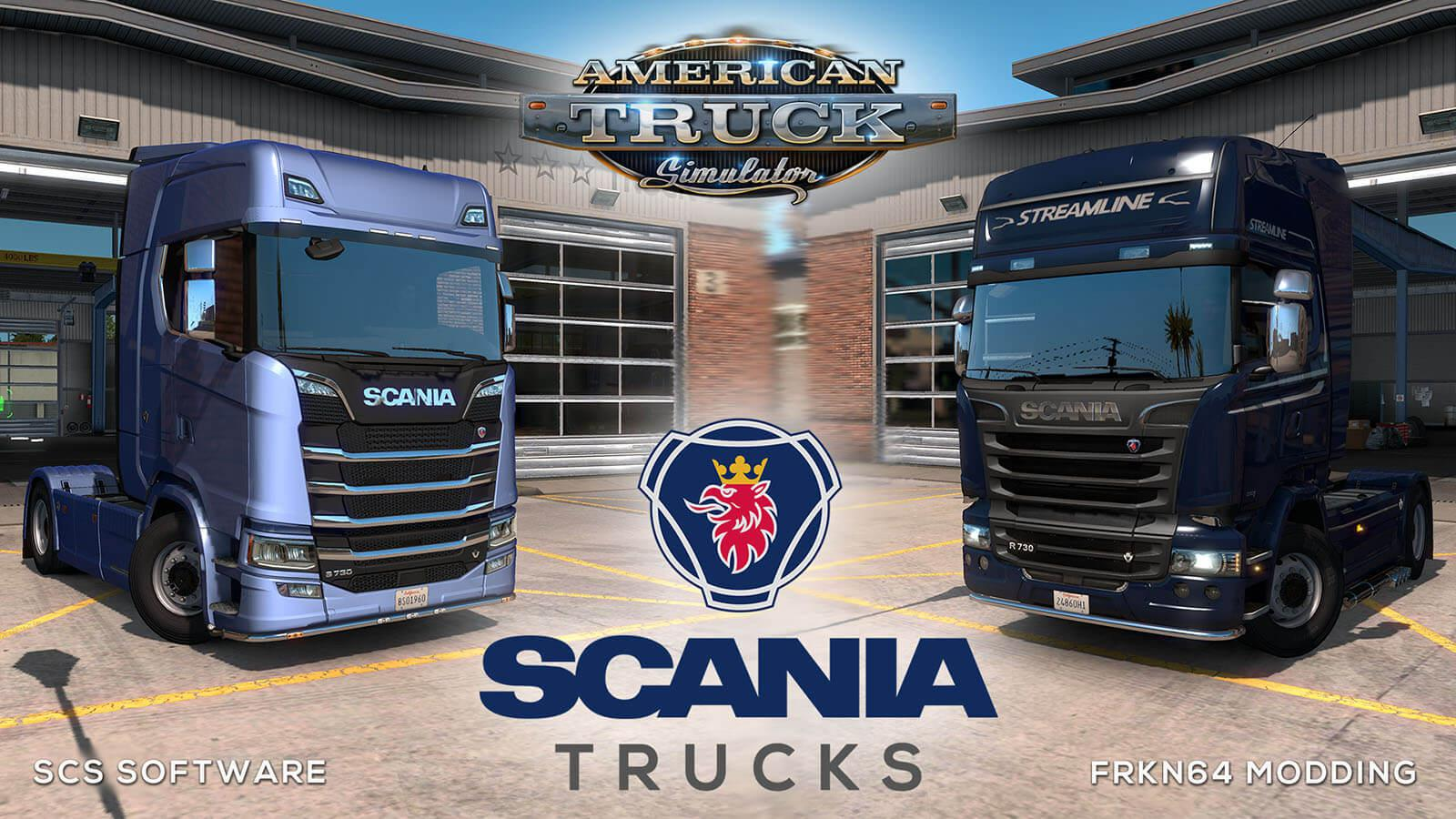 Scania Trucks Mod for ATS v3.0 by Frkn64 (1.36.x)