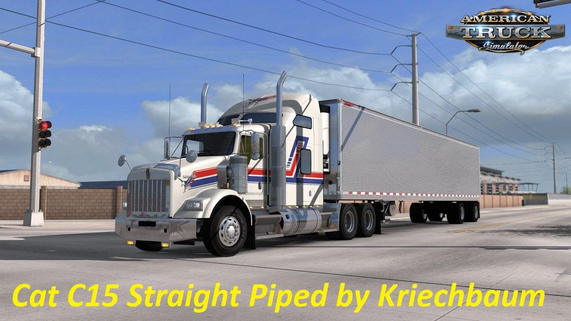 CAT C15 Straight Piped Sound Mod v1.0 (1.35.x) for ATS