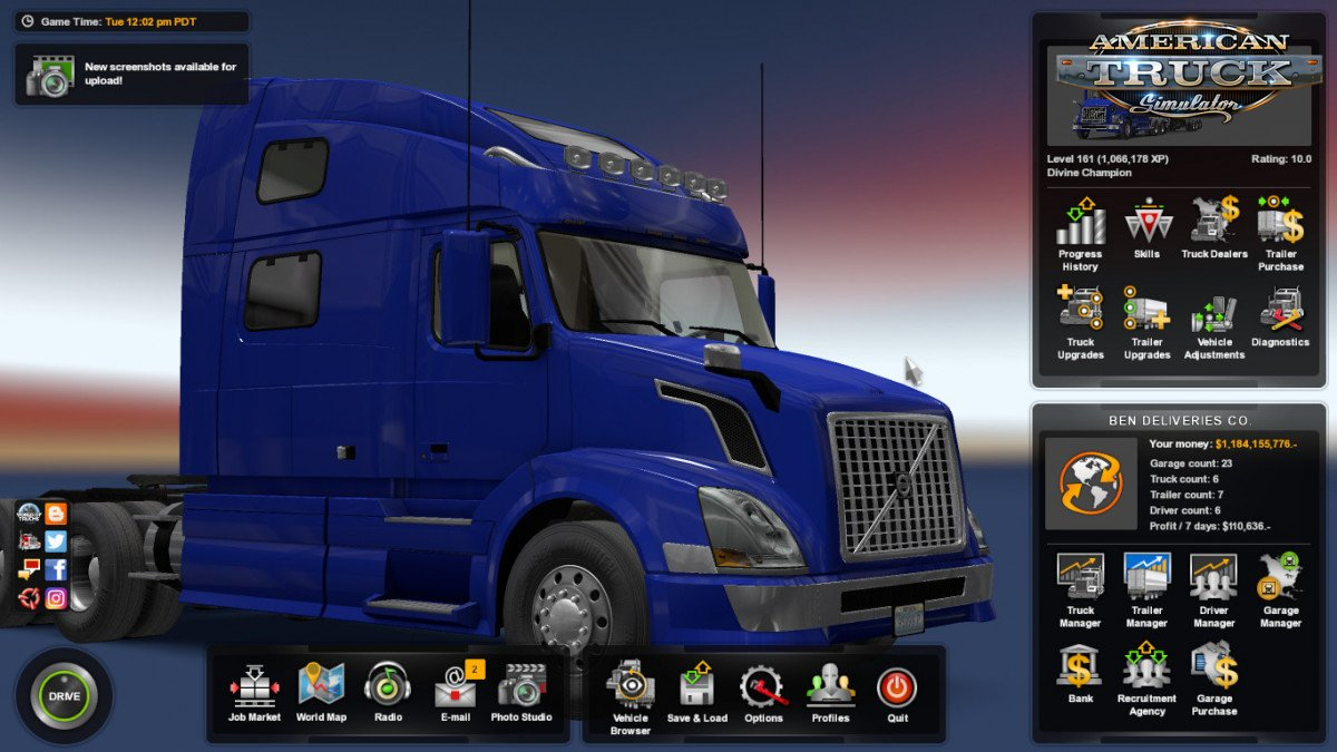 Save Game Profile for ATS 1.35.x by middle