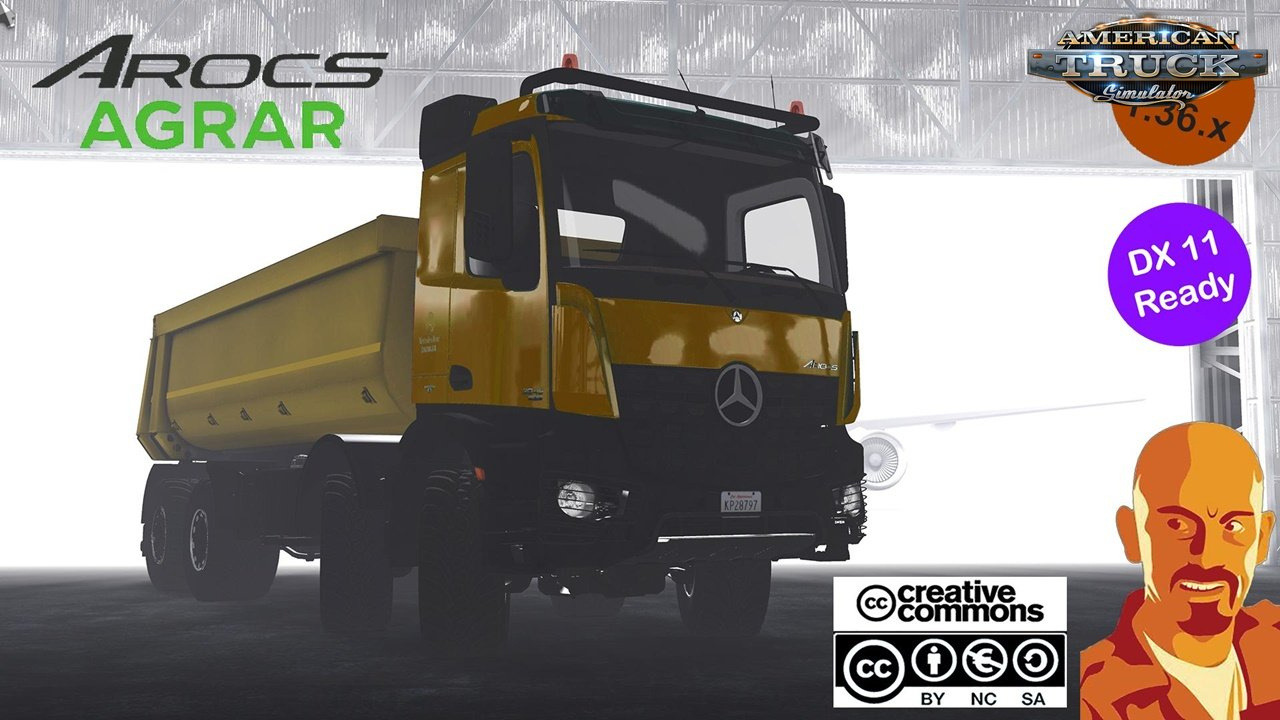 Mercedes Benz Arocs Agrar for Ats 1.36.x DX11