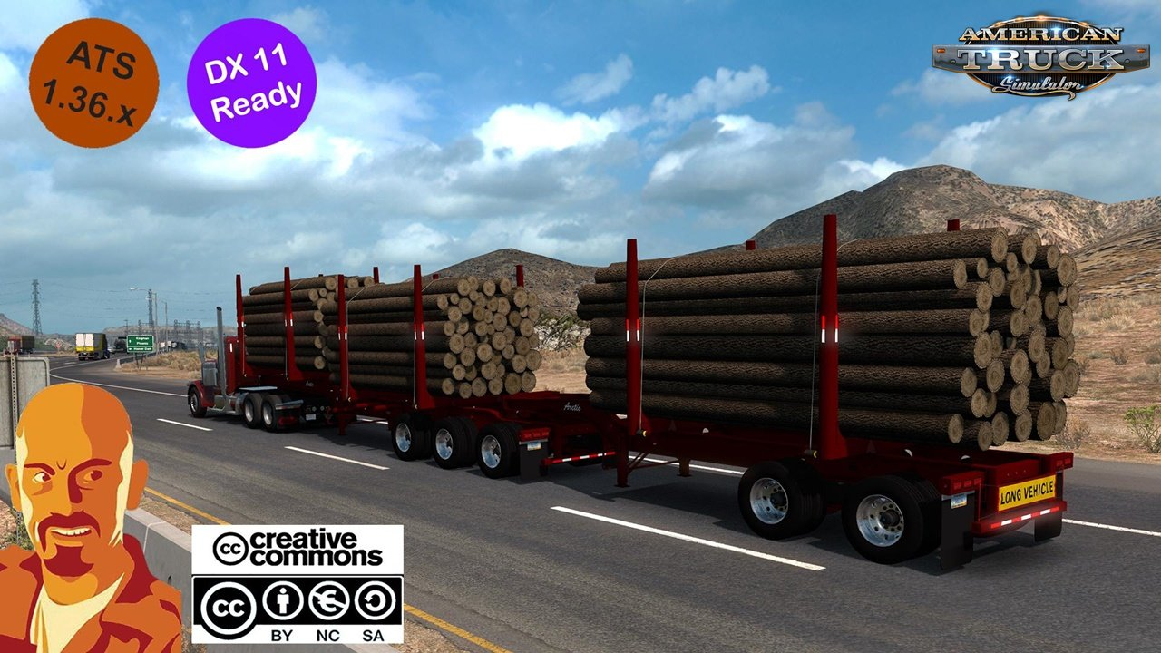 Arctic Logs Trailers for ATS (1.36.x)