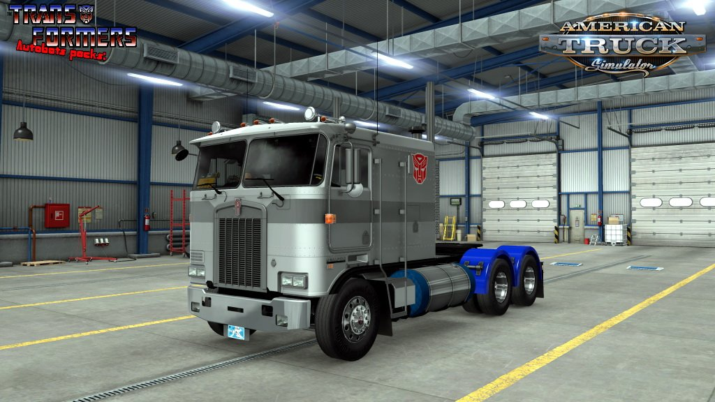 Optimus Prime Skin for Freightliner FLB v1.0 (1.37.x)