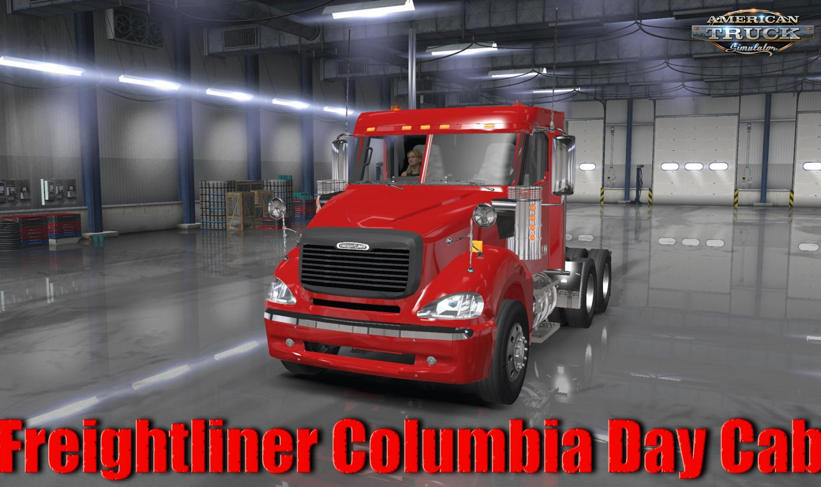 Freightliner Columbia Day Cab + Interior v1.0 (1.36.x)