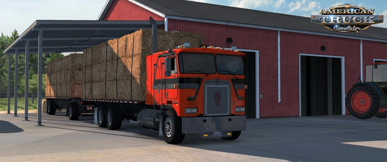 Flatbed Truck and Trailer Add-on for K100E v1.4 (1.37.x)