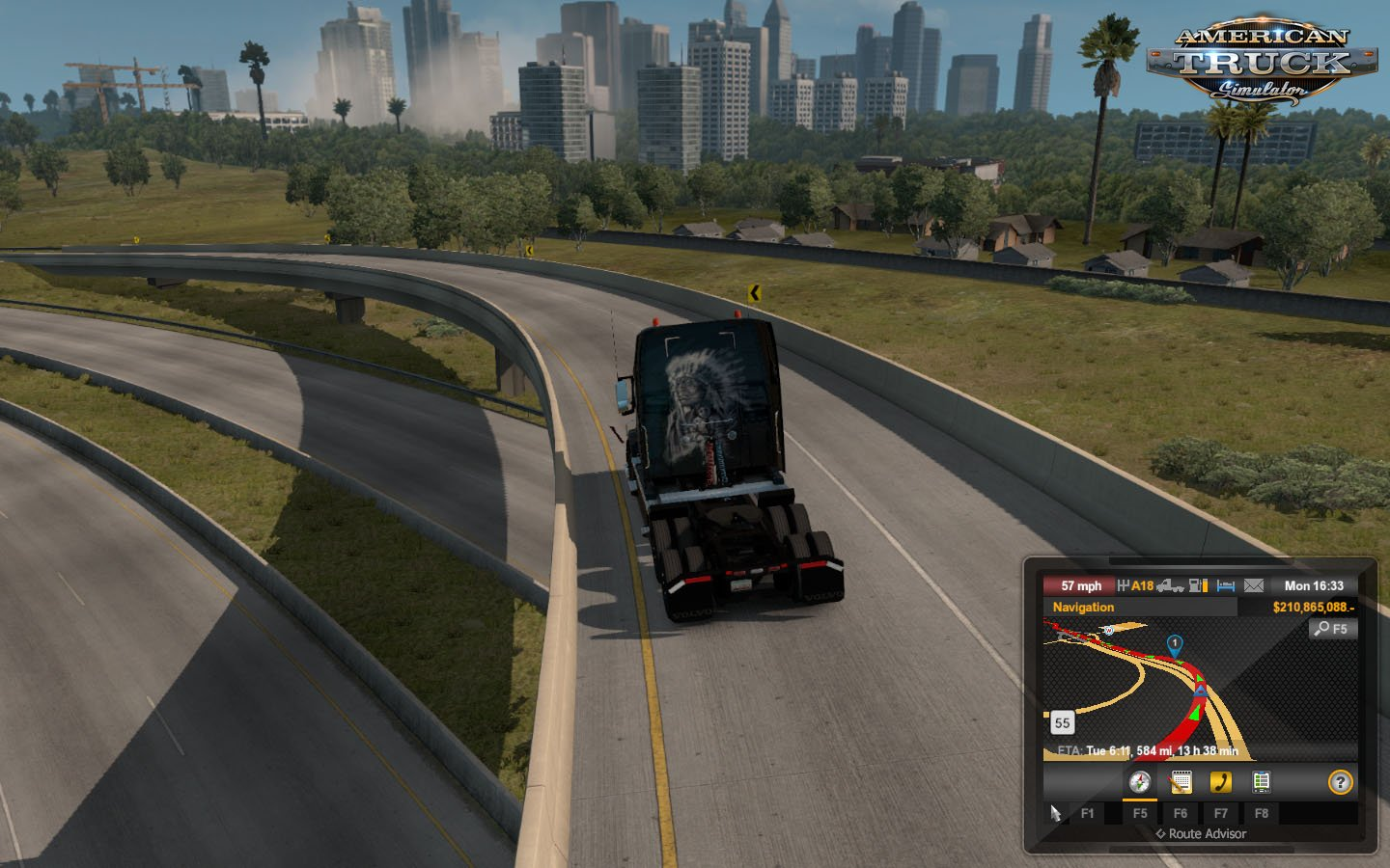 Truck Camera Distance Mod v1.38.1 (1.38.x) for ATS