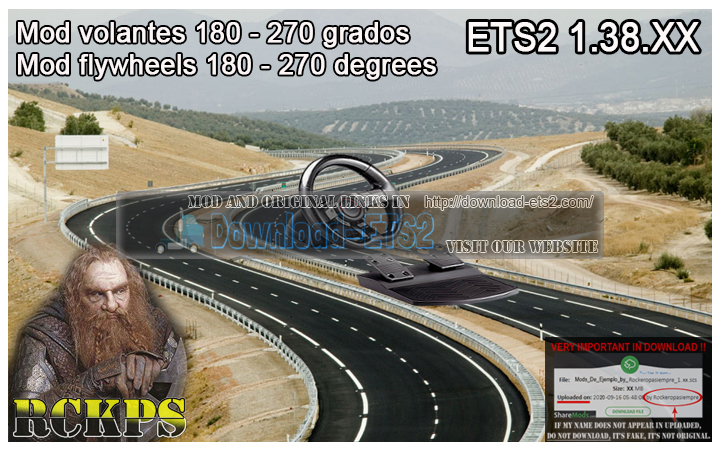 Mod for steering wheel 180-270 Degrees 1.38.XX ATS