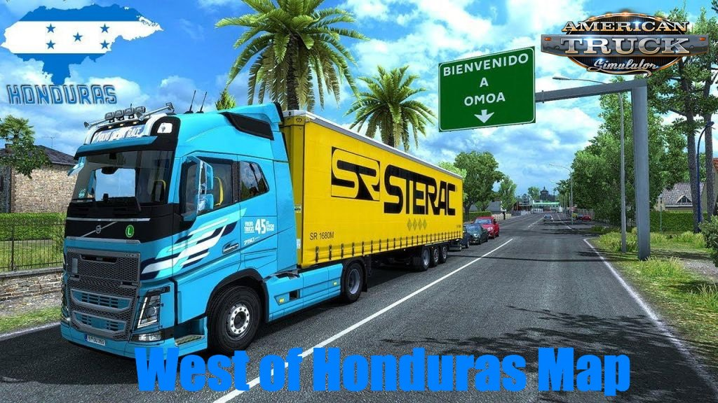 West of Honduras Map v4.0 (1.38.x) for ATS