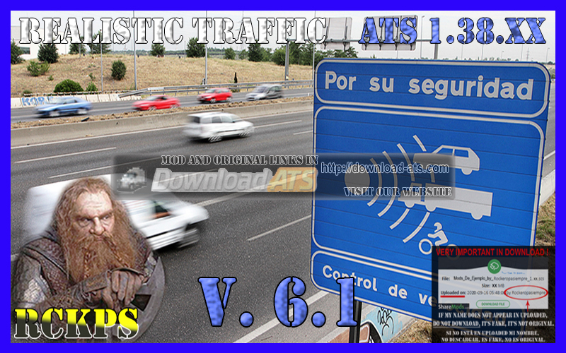 Realistic Traffic Mod v6.4 (1.38.x) for ATS
